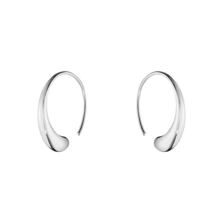GEORG JENSEN全新MERCY系列純銀耳環,6,975元。圖/喬治傑生提...