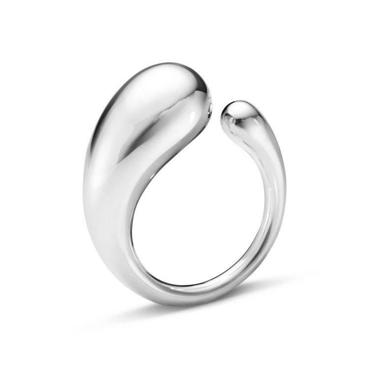 GEORG JENSEN全新MERCY系列純銀戒指小型款,4,975元。圖/喬治...