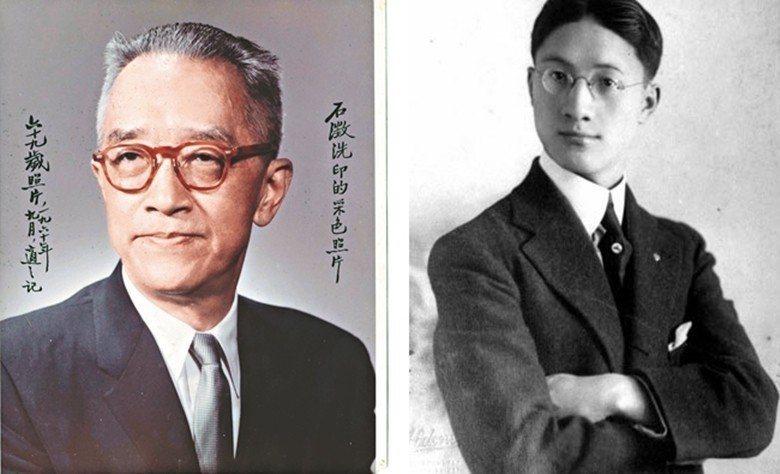 民國文青示意圖。左為前中研院院長胡適,右為詩人徐志摩。 圖/聯合報系資料照