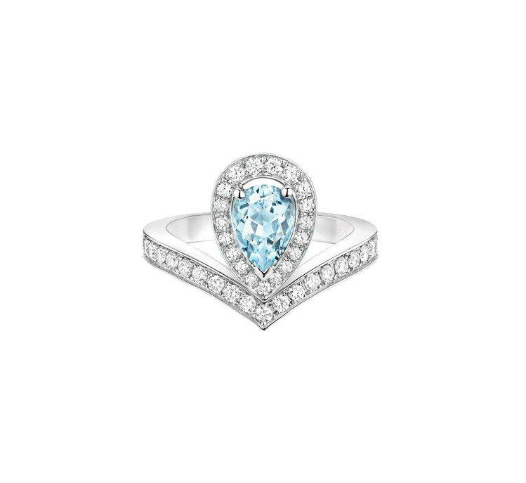 CHAUMET Joséphine Aigrette 18K白金海藍寶石戒指,...