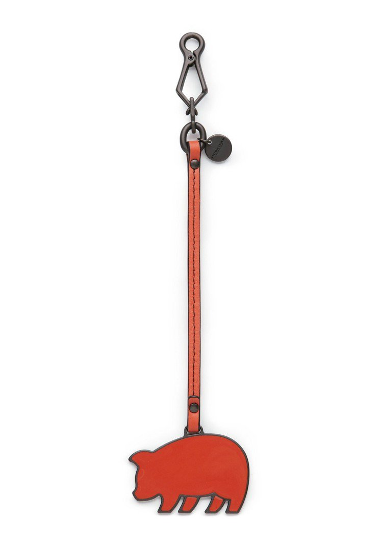 小羊皮小豬造型吊飾,11,700元。圖/Bottega Veneta提供