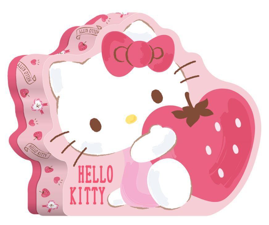 全家獨家販售Hello Kitty收納盒濃厚草莓法國酥,售價189元。圖/全家便...