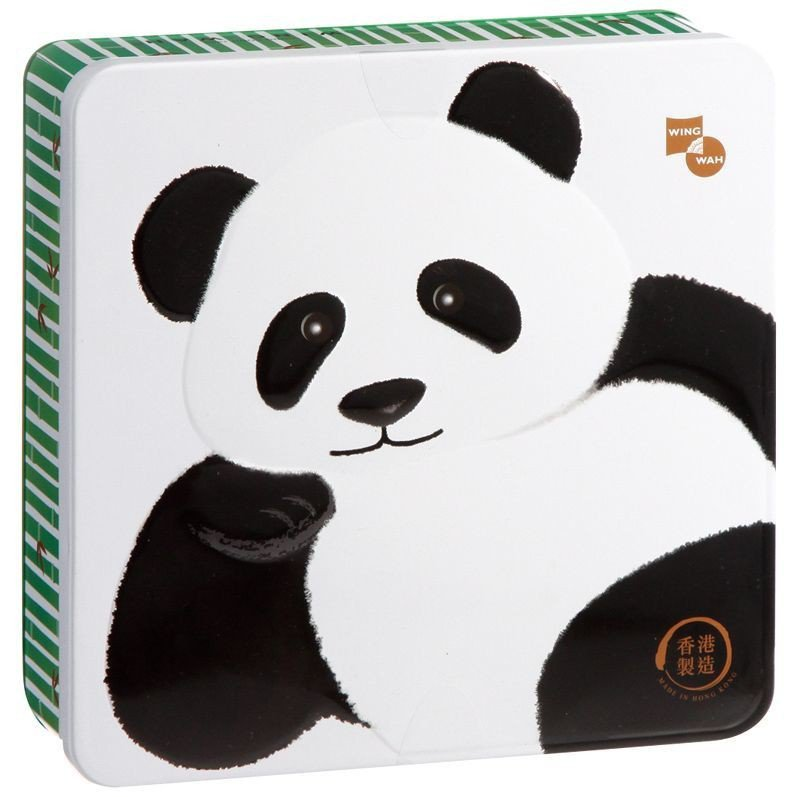 香港榮華熊貓曲奇禮盒,原價600元、特價499元。圖╱愛買提供