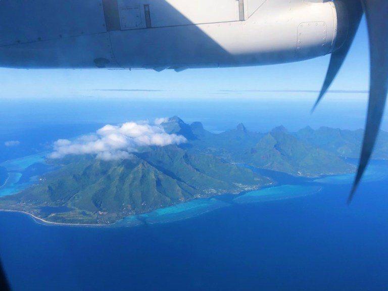 飛機上鳥瞰茉莉亞島 圖文來自於:TripPlus