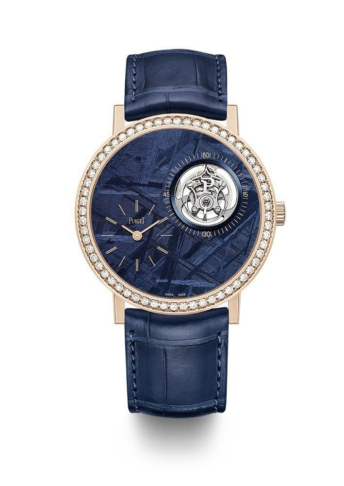 伯爵Altiplano超薄陀飛輪腕表,18K玫瑰金表殼,限量28只,約392萬元...