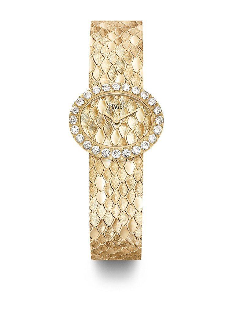 伯爵Extremely Lady腕表,18K玫瑰金表殼搭配雕紋黃金表盤,約194...