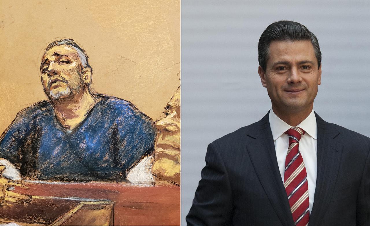 美國紐約聯邦法院正審理墨西哥大毒梟「矮子」古茲曼,14日古茲曼左右手西富恩特斯作...
