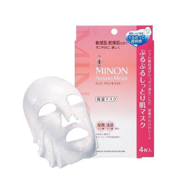 MINON水潤保濕修護面膜(4入),售價515元。圖/Tomod's提供