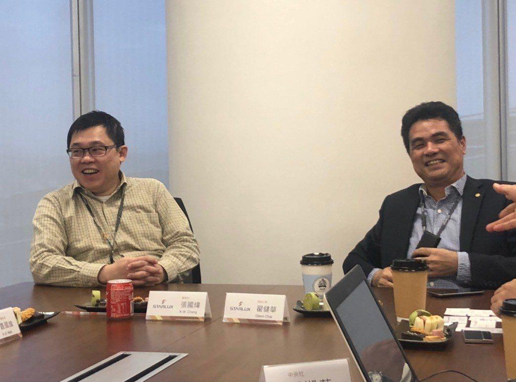 星宇航空董事長張國煒(左)、總經理翟健華(右)。記者侯俐安/攝影
