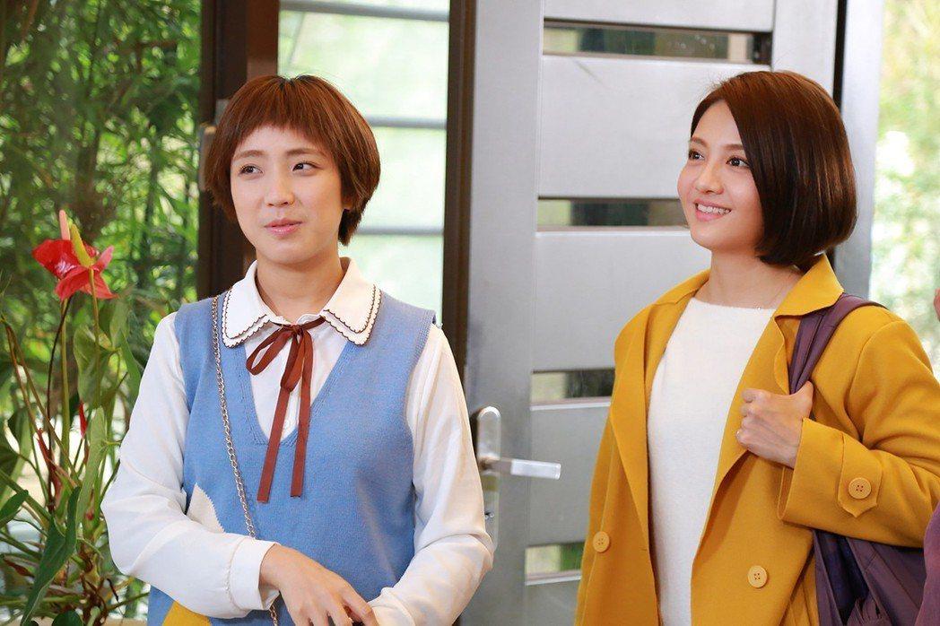 李宣榕(右)、梁舒涵在「女力報到」再度同框。圖/TVBS提供