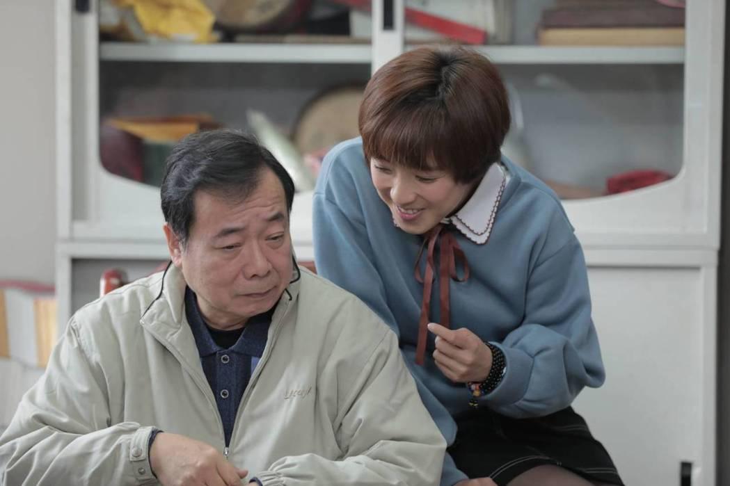 廖峻(左)與梁舒涵飾演父女。圖/TVBS提供