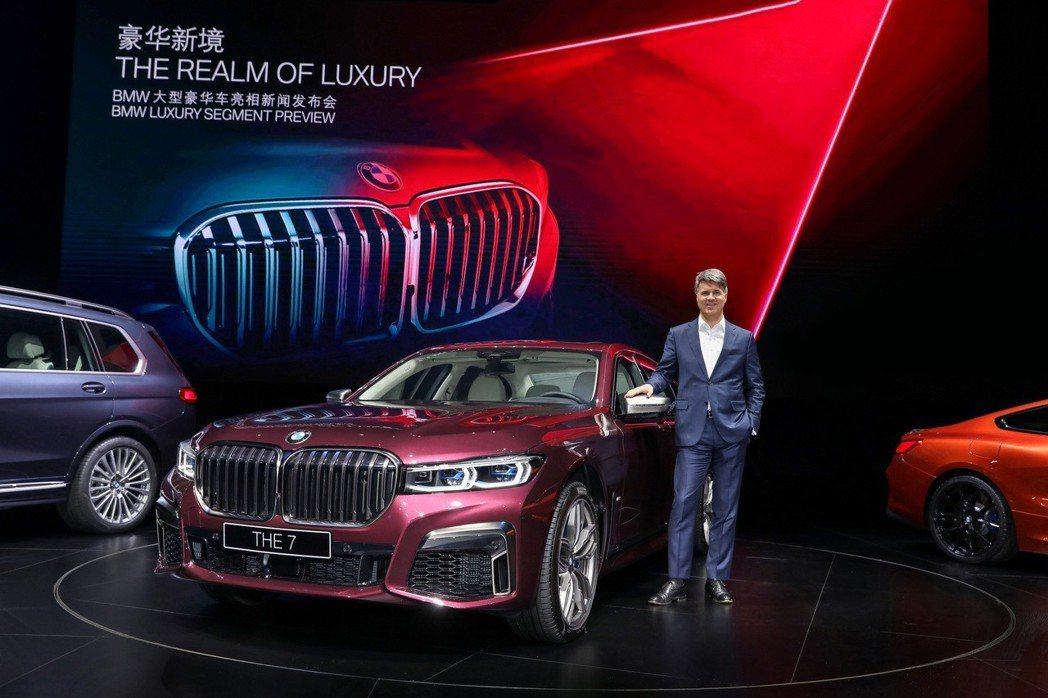 BMW 7 Series LCI在中國上海正式揭曉。 摘自BMW
