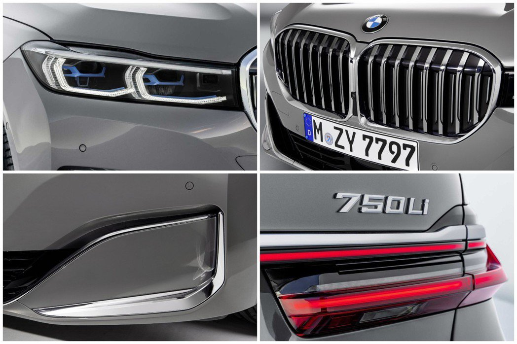 小改款BMW 7 Series的水箱護罩大小,較改款前型增大了40%,而尾燈也換...