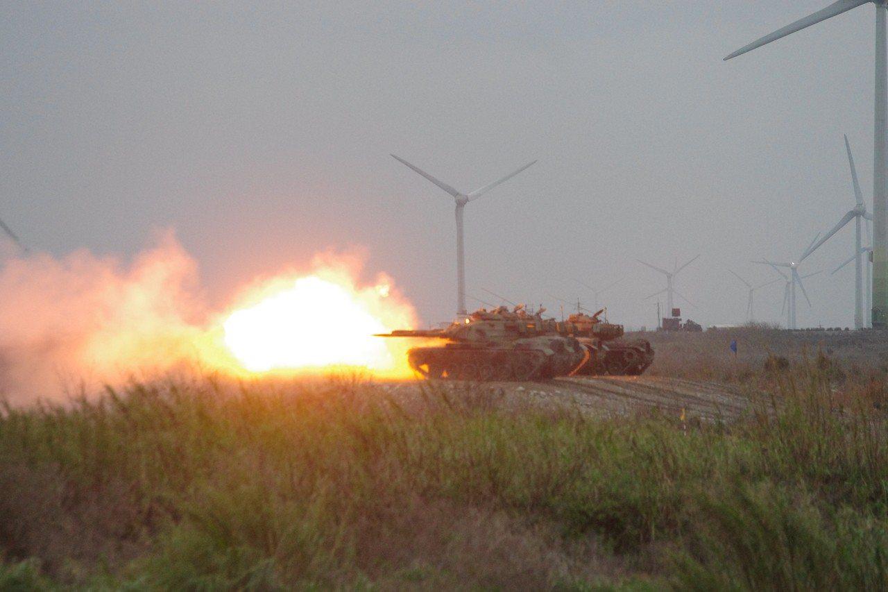 M60A3戰車開火射擊。記者程嘉文/攝影