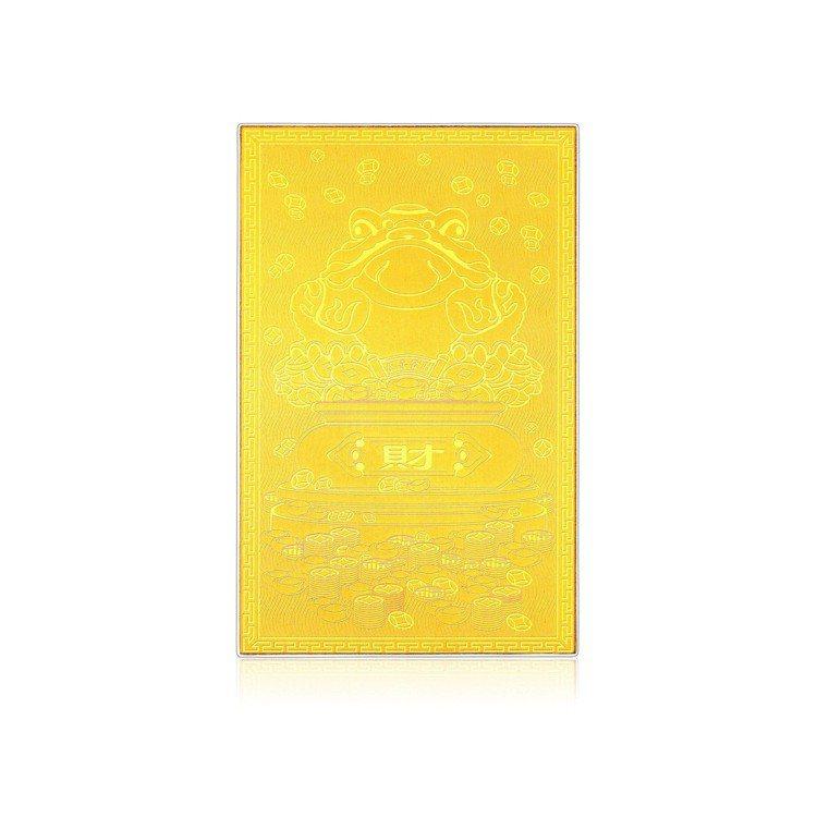 台灣限定金鈔錢母系列金卡-咬錢蟾蜍,2,500元起。圖/周大福提供