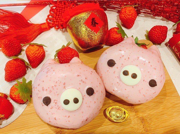 粉紅豬貝貝,售價50元。圖/Mister Donut提供