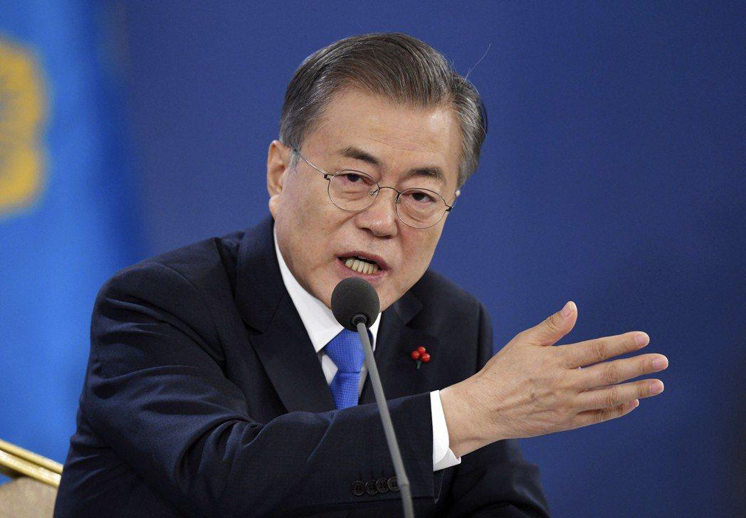 文在寅宣示南韓將邁向「氫經濟」。(美聯社)
