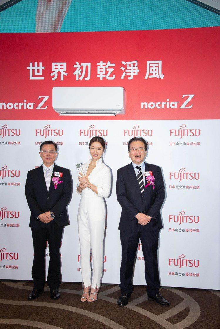 戲劇女王林心如為日本富士通空調代言,並拍攝全新電視廣告。圖/富士通提供