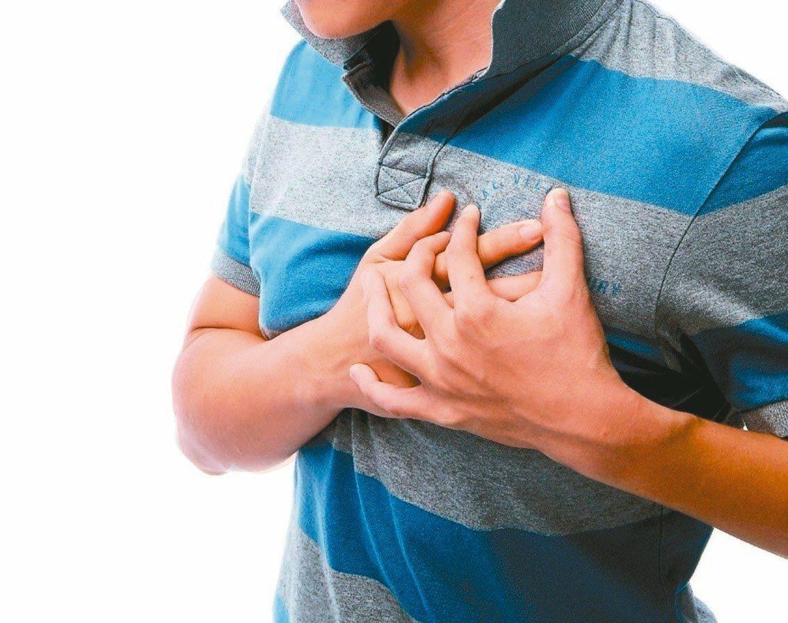 胸痛或是突如其來的呼吸急促持續不斷,不能輕忽。圖/聯合報系資料照片