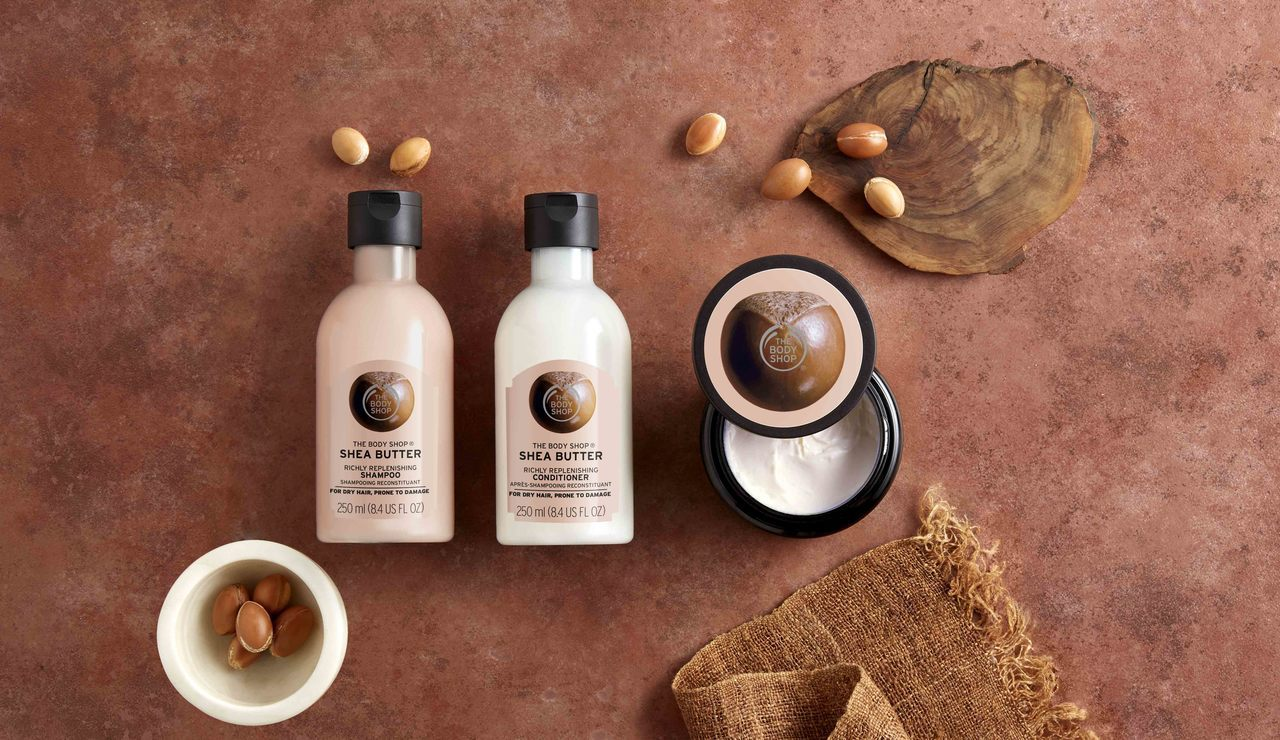 THE BODY SHOP新推出乳油木果豐盈洗護髮系列。圖/THE BODY S...