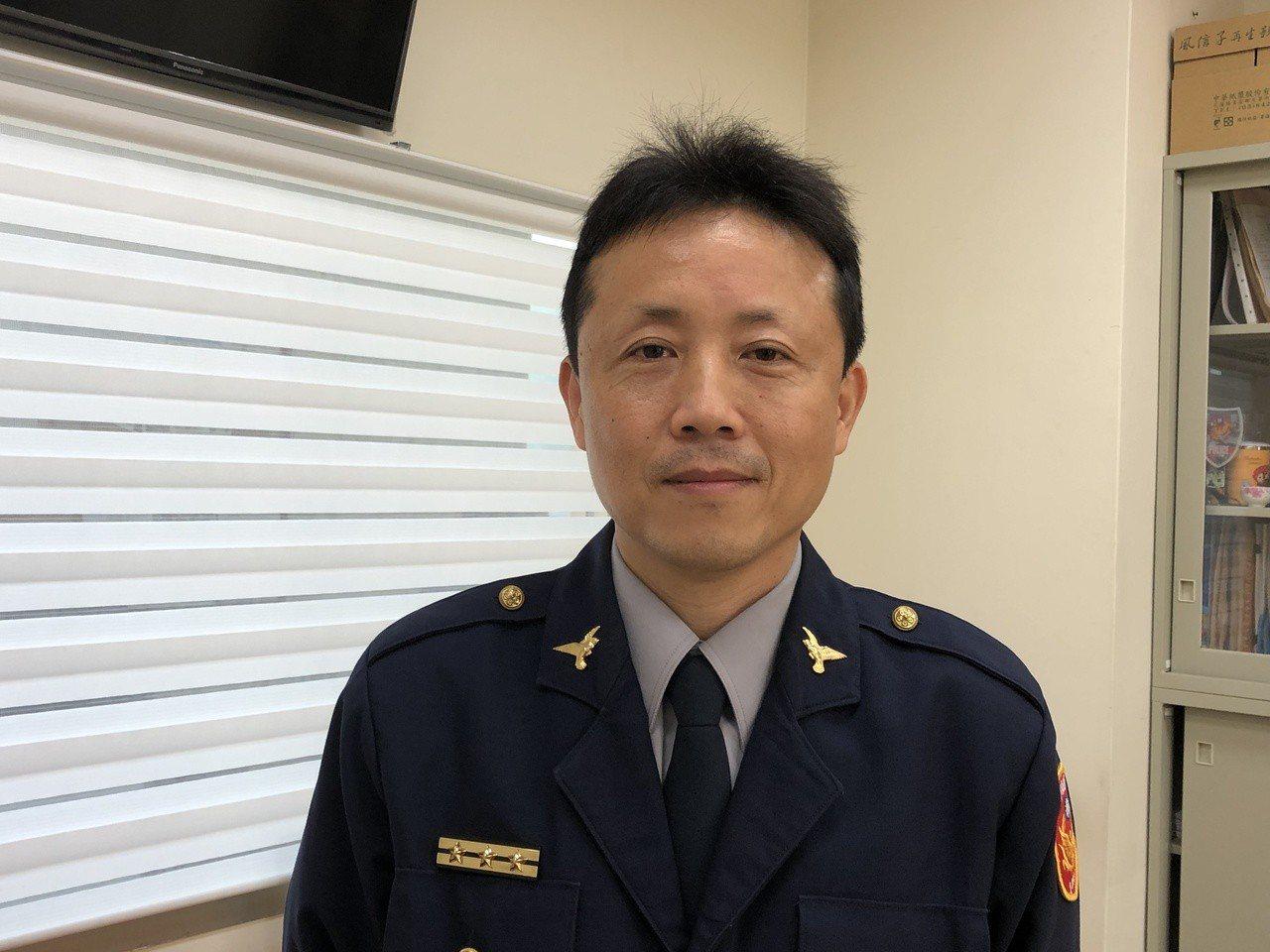 台南巿警局第四分局交通組長郭榮木,被局長稱讚帶種。記者邵心杰/攝影
