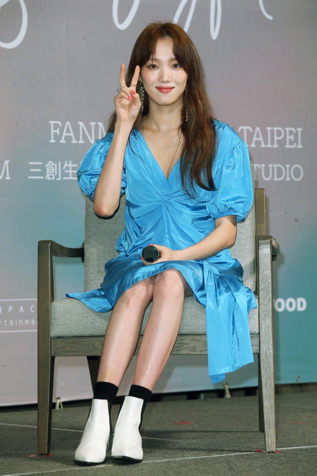 韓國女星李聖經在台北出席媒體見面會。記者徐兆玄/攝影