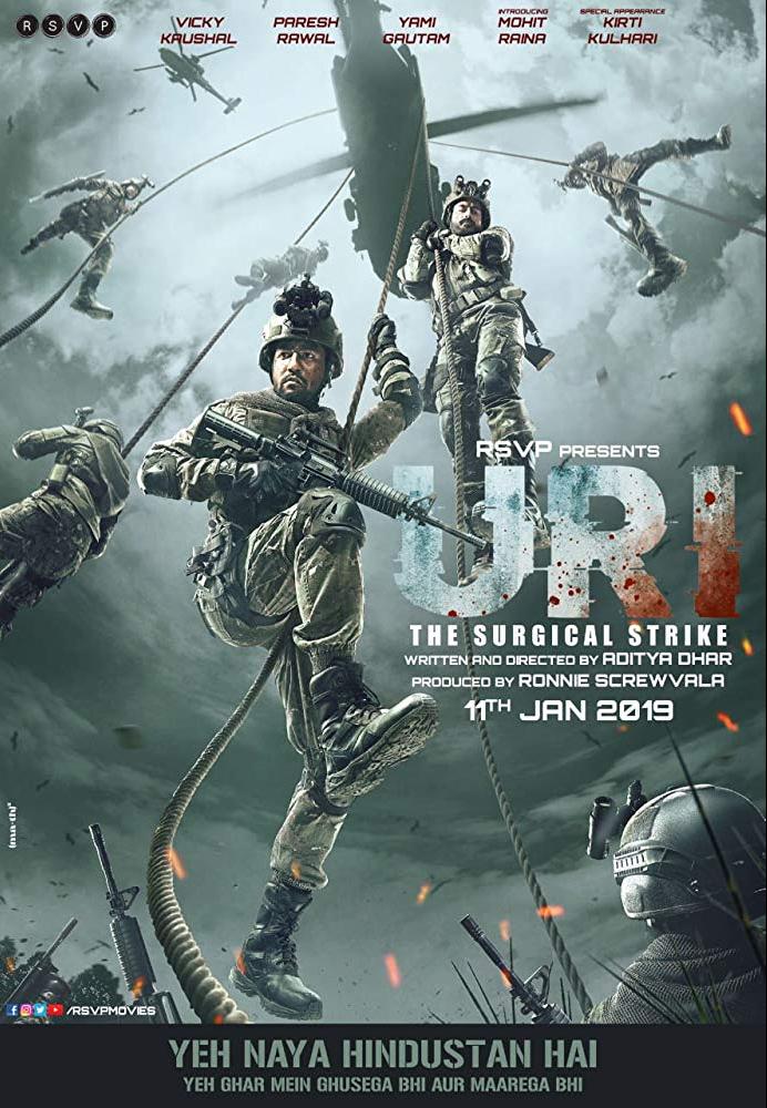 荷槍實彈的電影「準確上陣」說的是印度軍方在2016年成功回擊印度激進派的故事。 ...