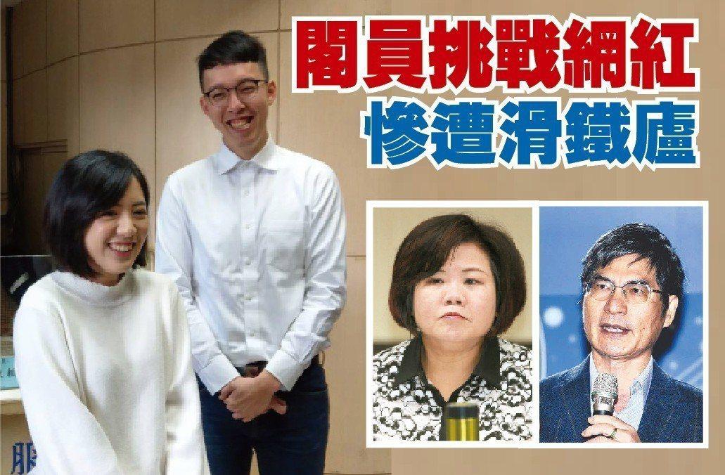 台北市長柯文哲兩大網路操盤手,分為副發言人柯昱安(右)和「學姊」黃瀞瑩。近日勞動...