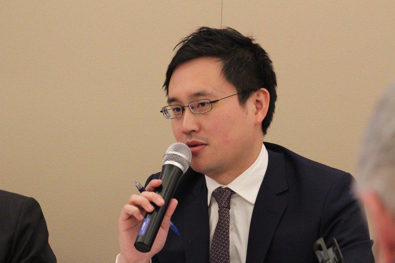 駐美代表處政治組組長趙怡翔。 華盛頓記者張筠/攝影