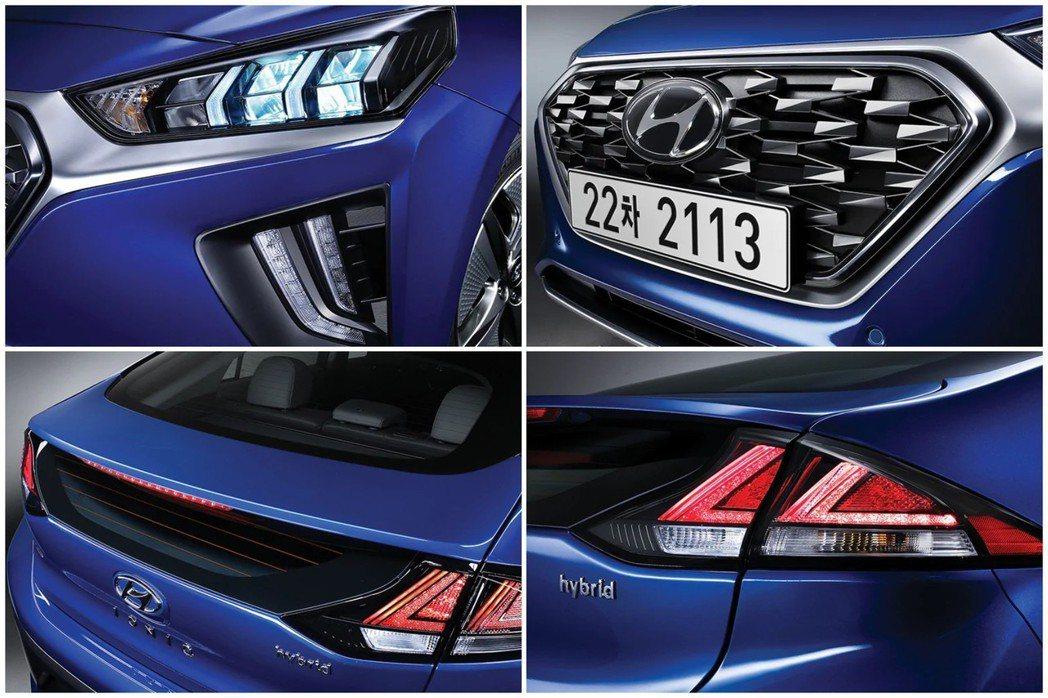 小改款Hyundai Ioniq換上了更為銳利的LED頭燈造型,並且使用了偏向家...