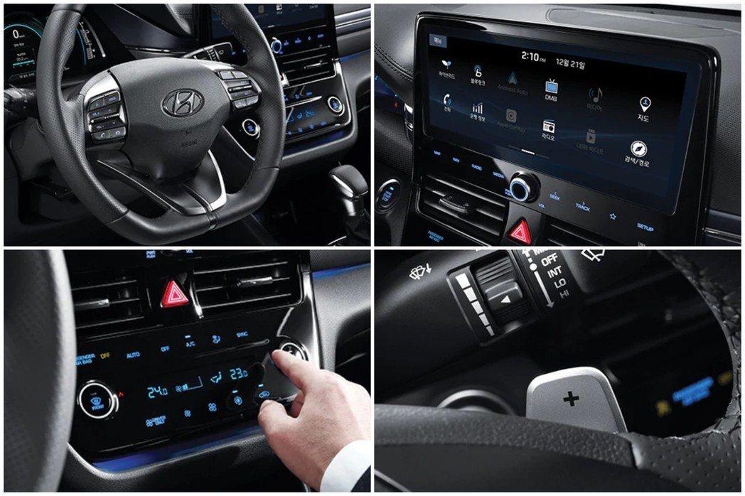 小改款Hyundai Ioniq可選配10.25吋的中控觸控式螢幕,原本列為選配...