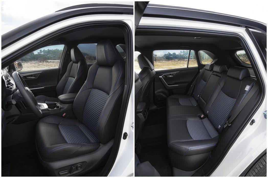 新世代歐規Toyota RAV4 Hybrid前、後排座椅。 摘自Toyota