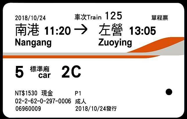 政大教授劉宏恩在臉書表示,高鐵新版車票上的車廂標示讓外國人看不懂,他批評高鐵設計...