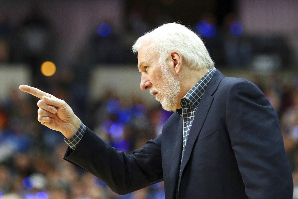 波波維奇將成為NBA史上第4位70歲教頭,還不確定是否下季繼續執教馬刺。 美聯社