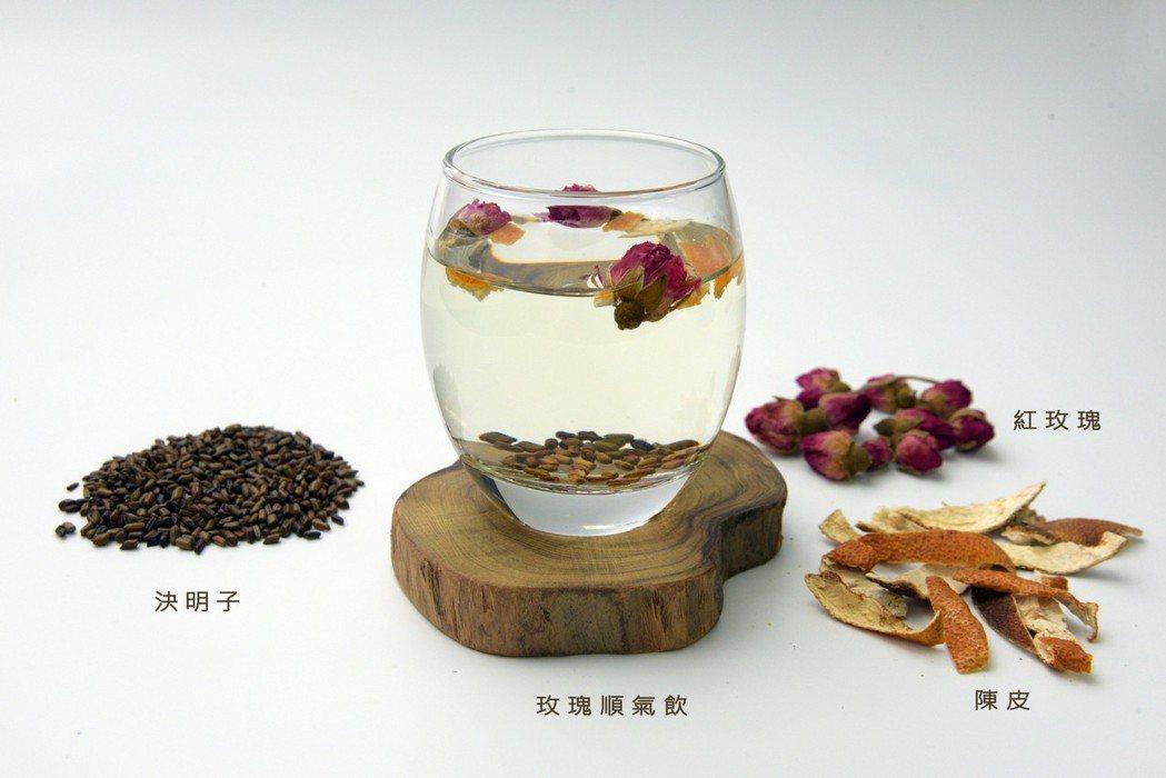 氣秘型便秘結建議飲用「玫瑰順氣飲」來做調理。圖/大林慈濟醫院提供