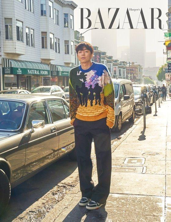 孔劉穿上Virgil Abloh以《綠野仙蹤》為靈感的針織衫。圖/取自twitt...