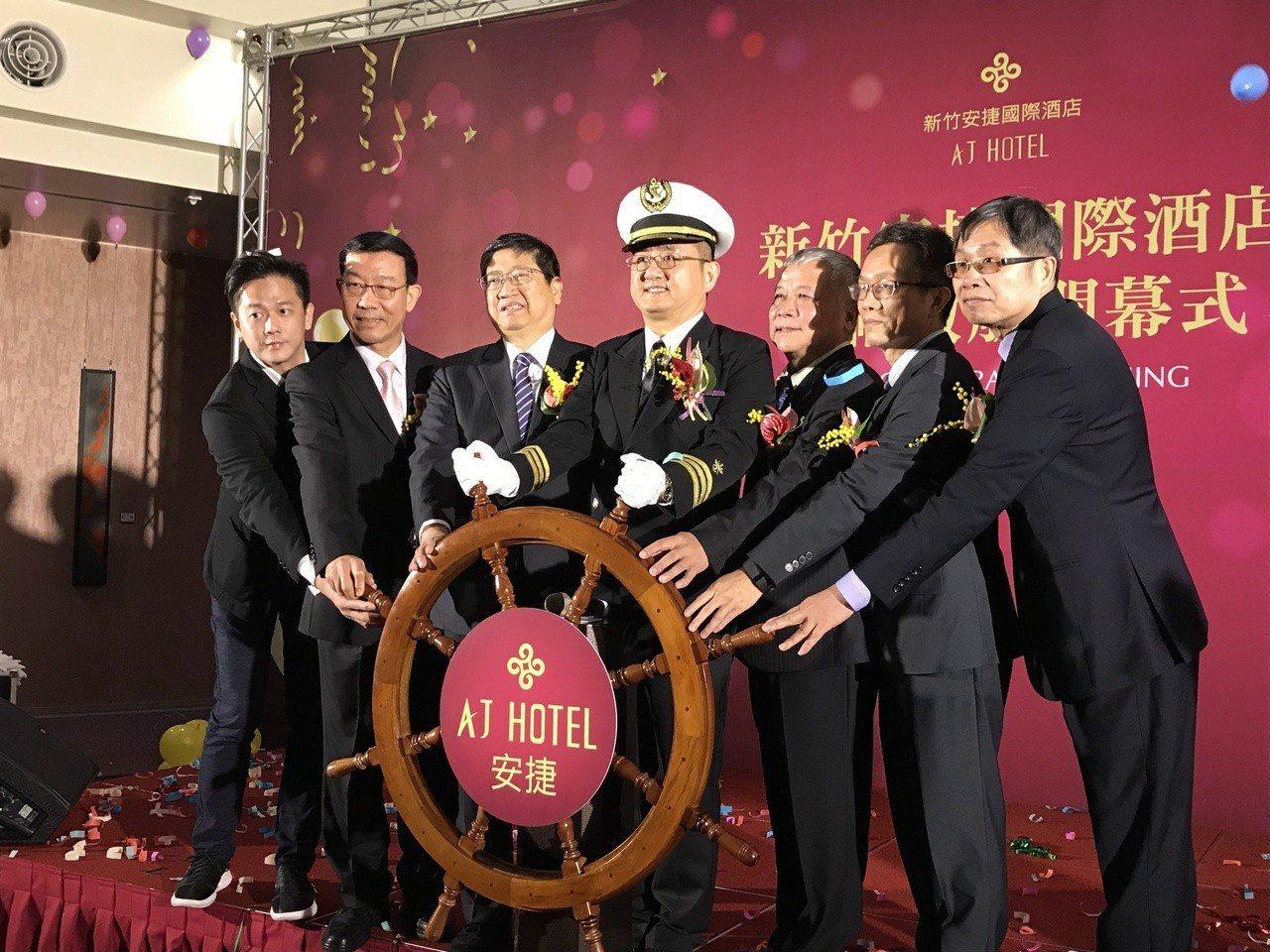 新竹安捷國際酒店今(18)日盛大開幕。記者李珣瑛/攝影