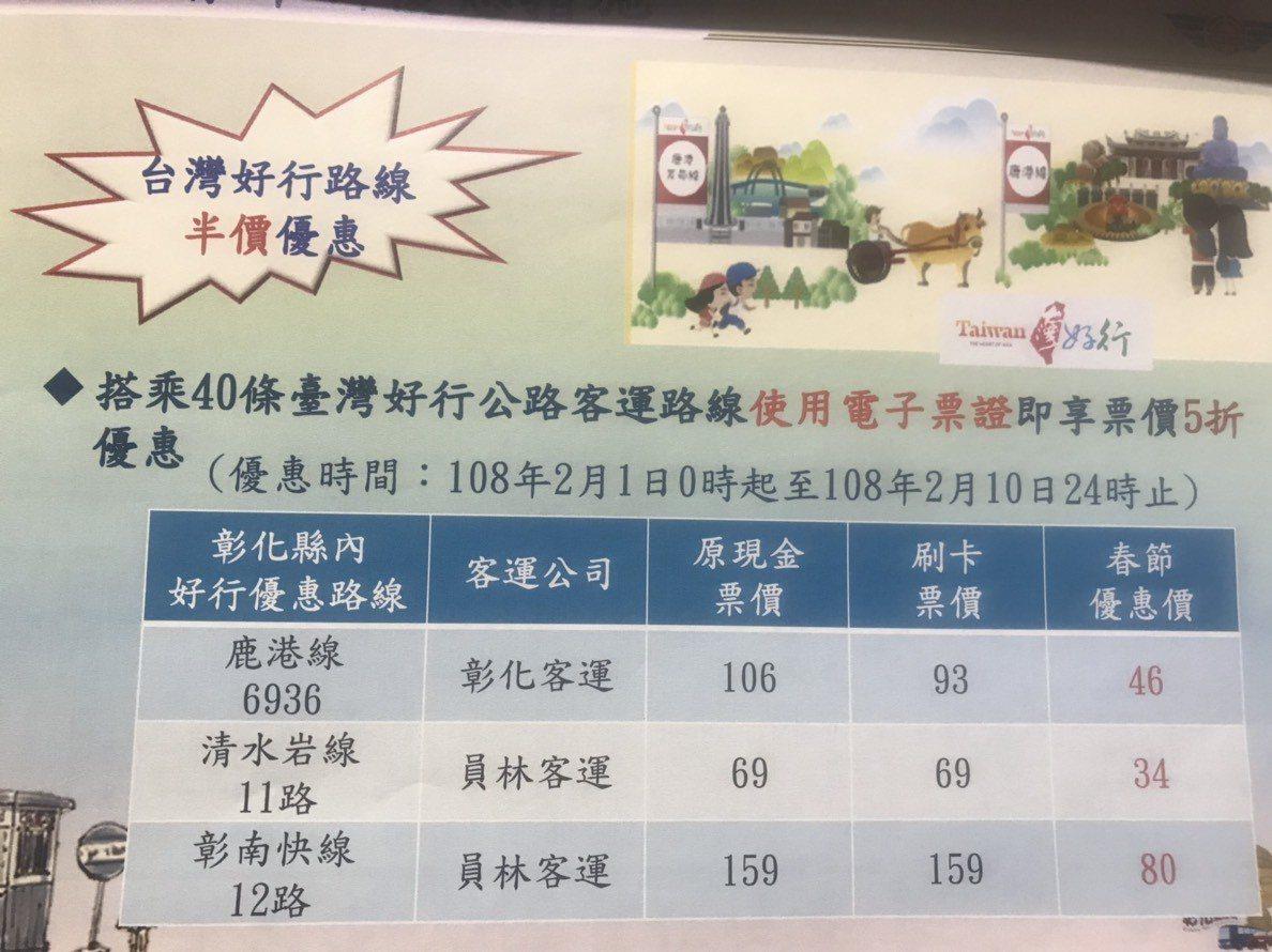 2月1日到10日只要搭交通部核定的86條國道客運路線平均享有85折優惠,用電子票...