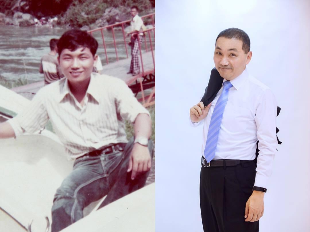 新北市長侯友宜在臉書上指出,挑戰10年可能沒有什麼效果,於是交出30年前的照片,...