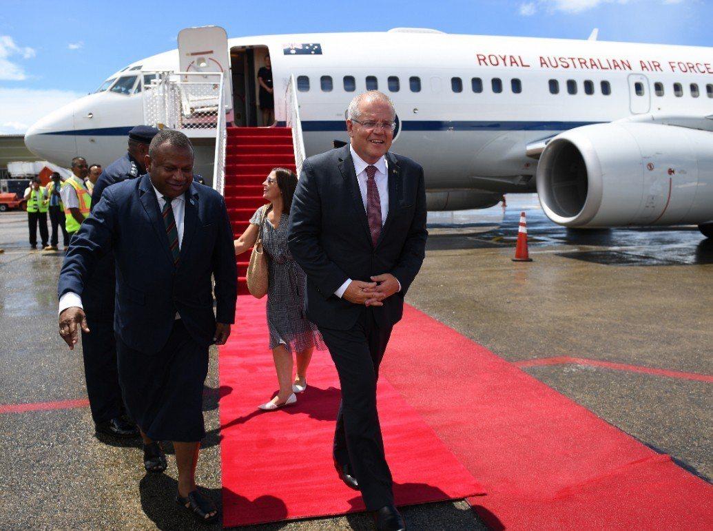 澳洲總理莫里森(Scott Morrison)18日抵達斐濟進行為期三天的訪問。...