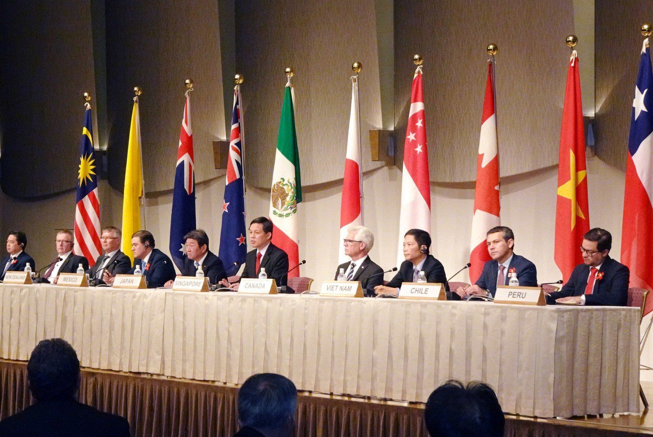 由日本主導的「跨太平洋夥伴全面進步協定」(CPTPP)去年12月生效,首次部長級...