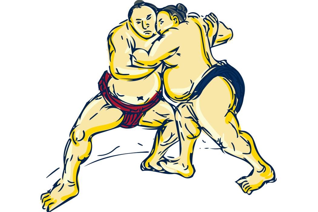 一般相撲選手的體重約落在一百三十五至一百八十公斤,身體具有大量的肌肉與脂肪。以任...