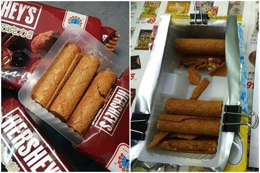 大部分人都會將餅乾撕開一個口,拉出包裝盒直接吃 圖片來源/instagram 爆...