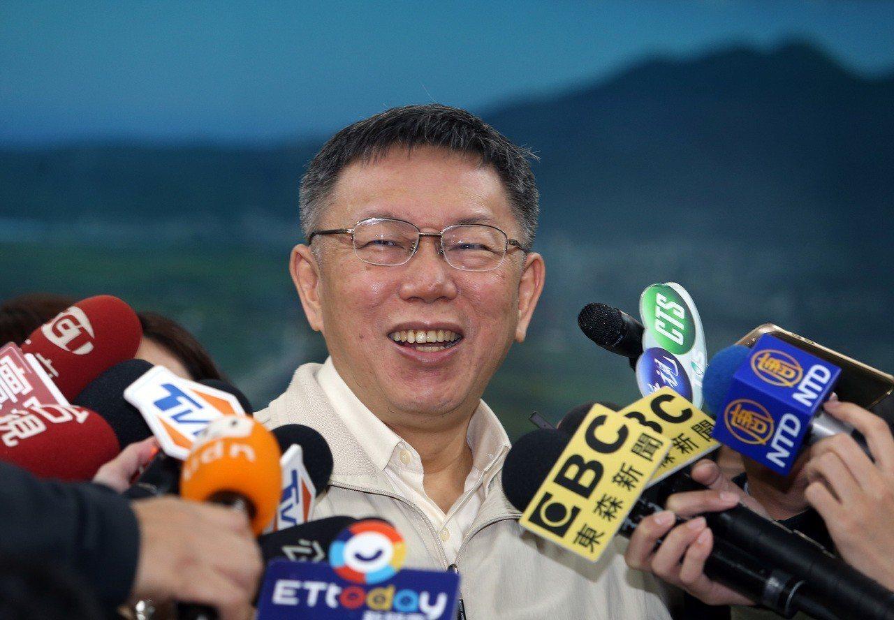 台北市長柯文哲。本報資料照片 記者曾吉松/攝影