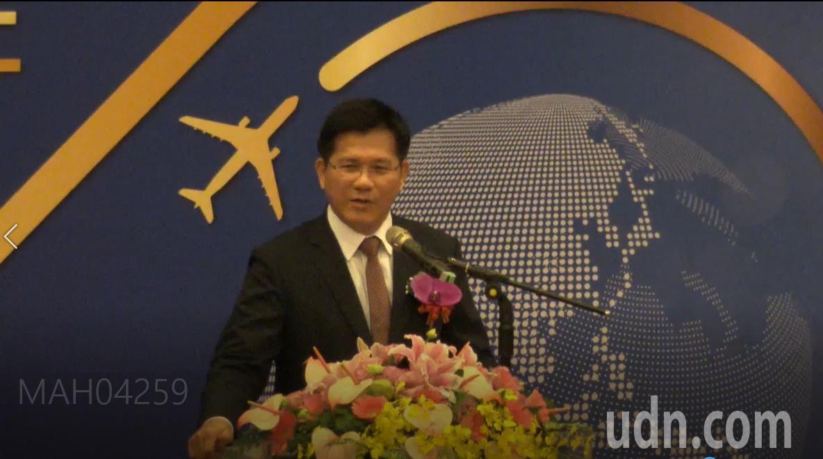 交通部長林佳龍致詞。記者洪安怡/攝影