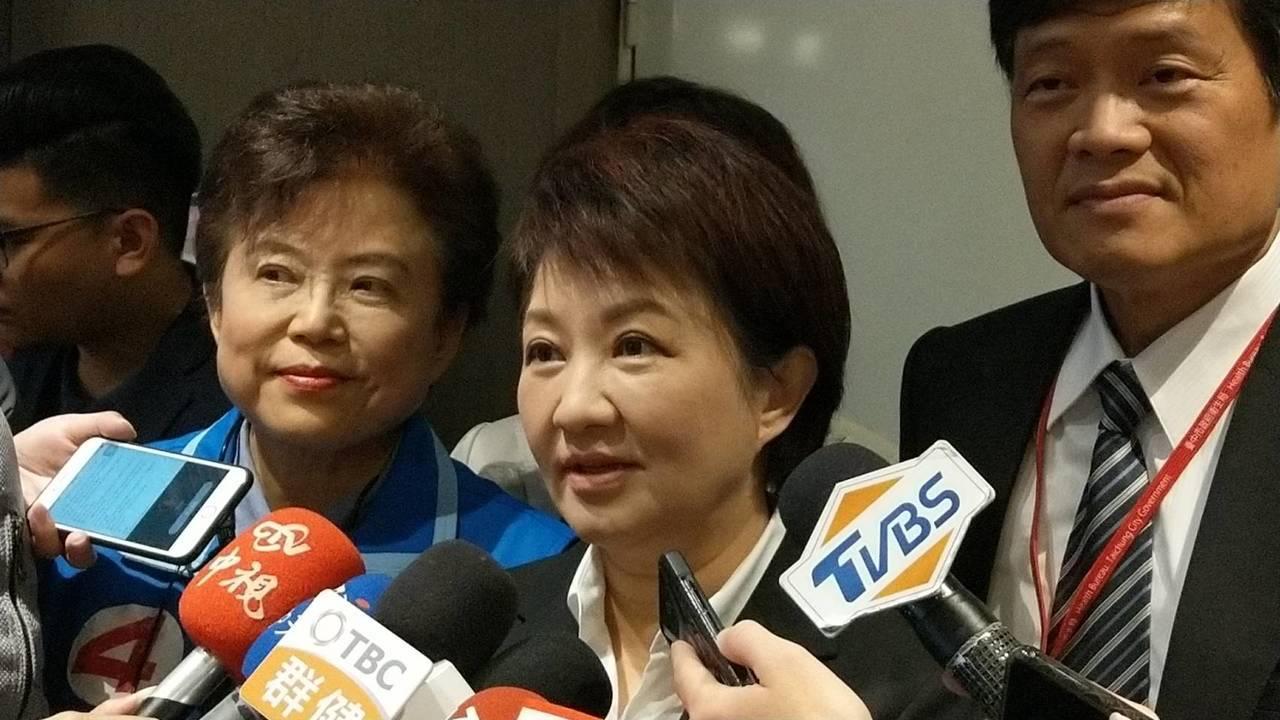台中市長盧秀燕今天證實,她將在本月底,也就是1月28日到香港「拚經濟」。記者趙容...