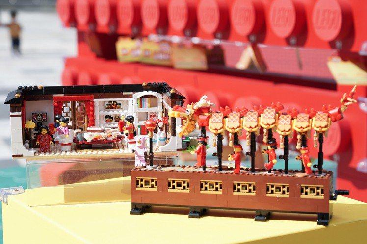 樂高推出亞洲新年限定盒組「舞龍」。圖/樂高提供