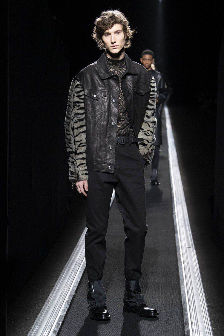 混搭老虎、美洲豹等動物紋的穿法,是迪奧男裝今年秋冬重點之一。圖/Dior提供