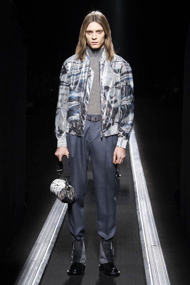 藝術家Raymond Pettibon的蒙娜麗莎頭像夾克。圖/Dior提供