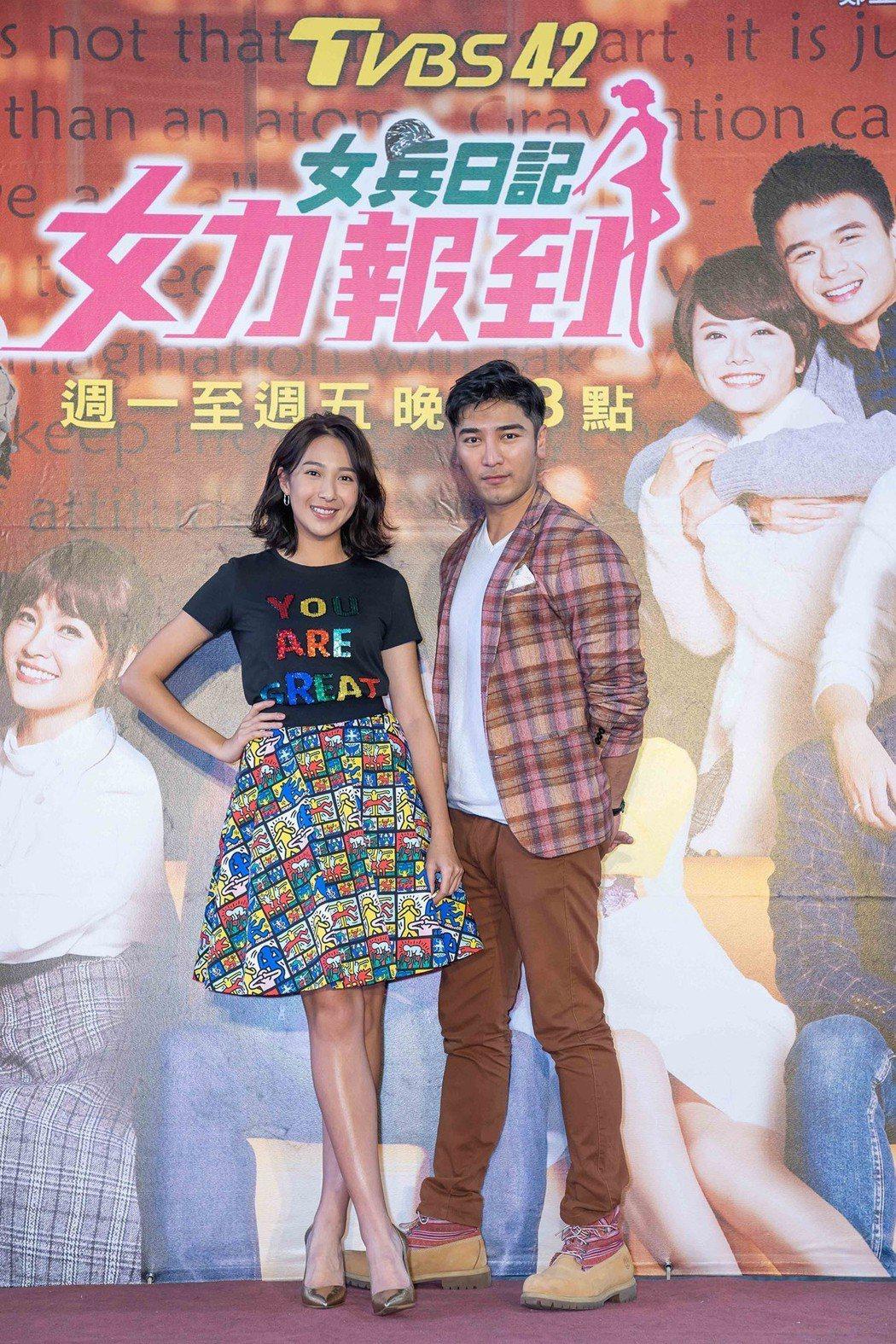 楊晴(左)、羅平出席「女力報到」粉絲見面會。圖/TVBS提供